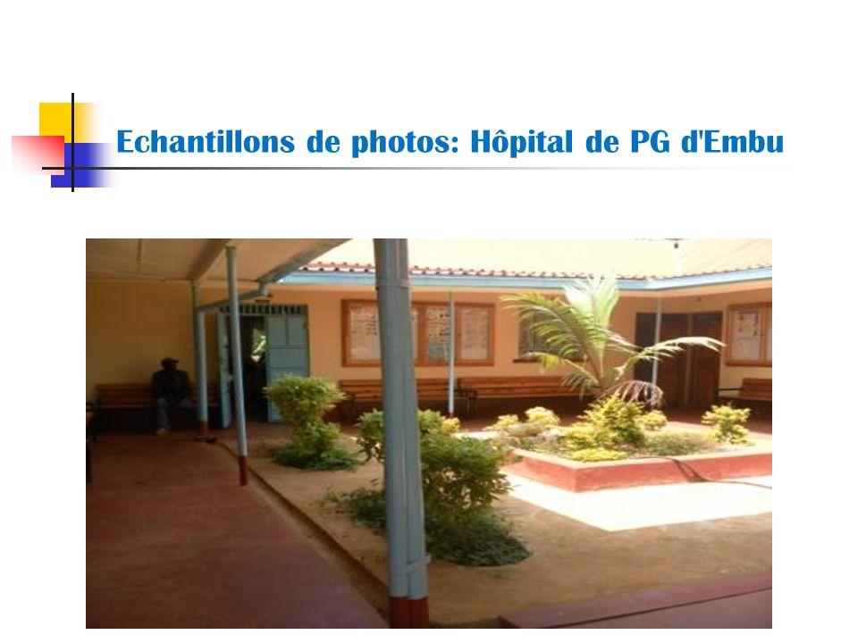 Echantillons de photos: Hôpital de PG d'Embu