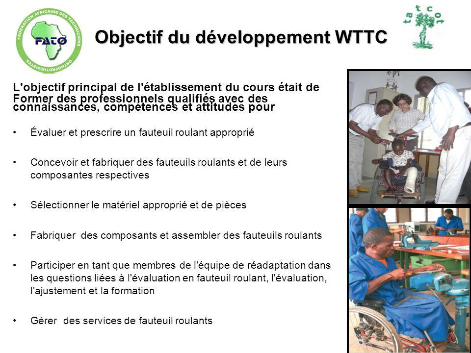 Objectif du développement WTTC L'objectif principal de l'établissement du cours était de Former des professionnels qualifiés avec des connaissances, c