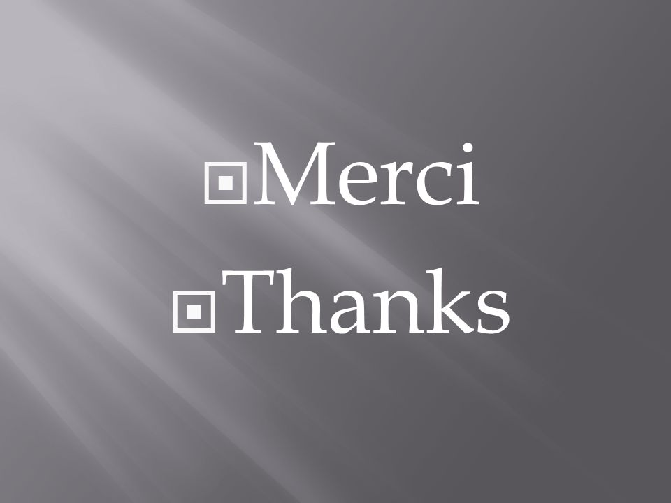 Merci Thanks
