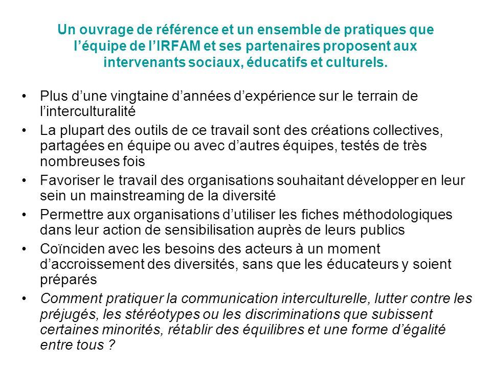 Un ouvrage de référence et un ensemble de pratiques que léquipe de lIRFAM et ses partenaires proposent aux intervenants sociaux, éducatifs et culturel