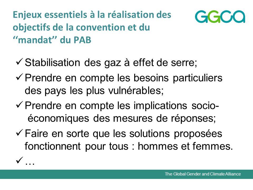 The Global Gender and Climate Alliance Pourquoi genre et changement climatique .