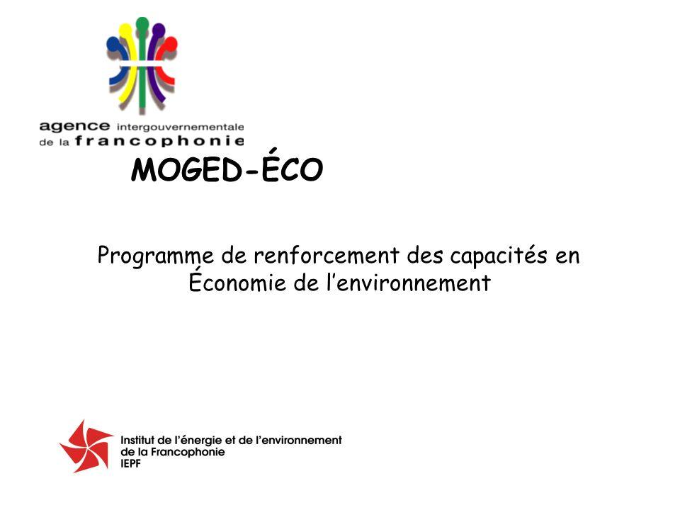 Programme de renforcement des capacités en Économie de lenvironnement MOGED-ÉCO
