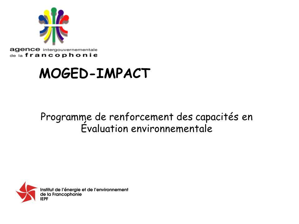 Programme de renforcement des capacités en Évaluation environnementale MOGED-IMPACT