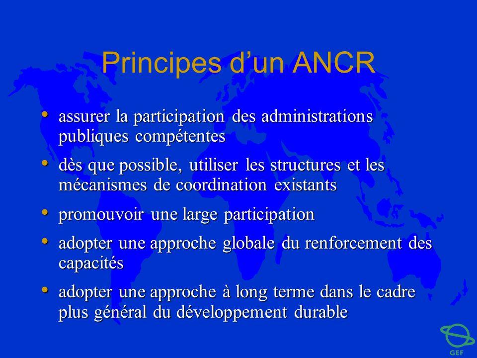 Principes dun ANCR assurer la participation des administrations publiques compétentes assurer la participation des administrations publiques compétent