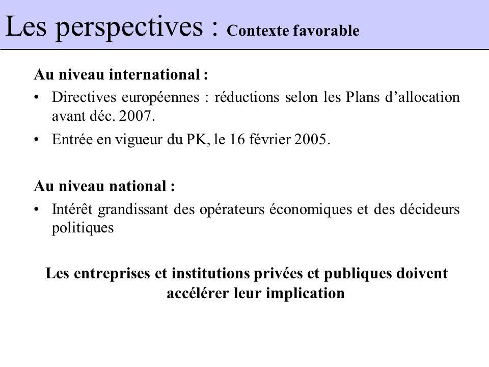 Au niveau international : Directives européennes : réductions selon les Plans dallocation avant déc.