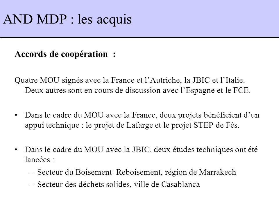 Accords de coopération : Quatre MOU signés avec la France et lAutriche, la JBIC et lItalie.