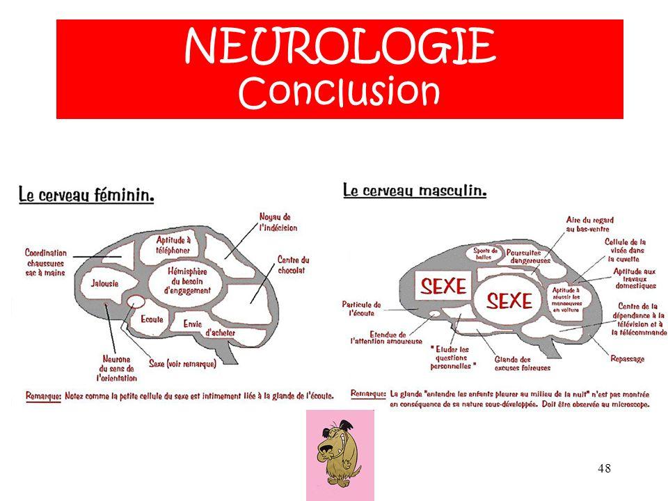48 NEUROLOGIE ANATOMIE NEUROLOGIE Conclusion