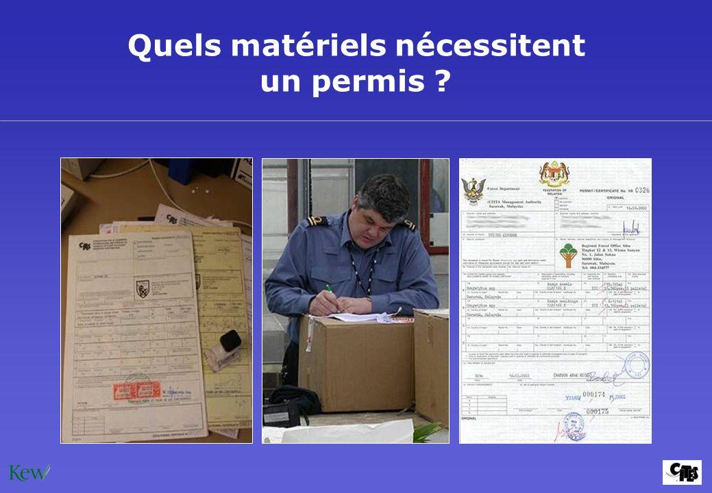 Quels matériels nécessitent un permis ?