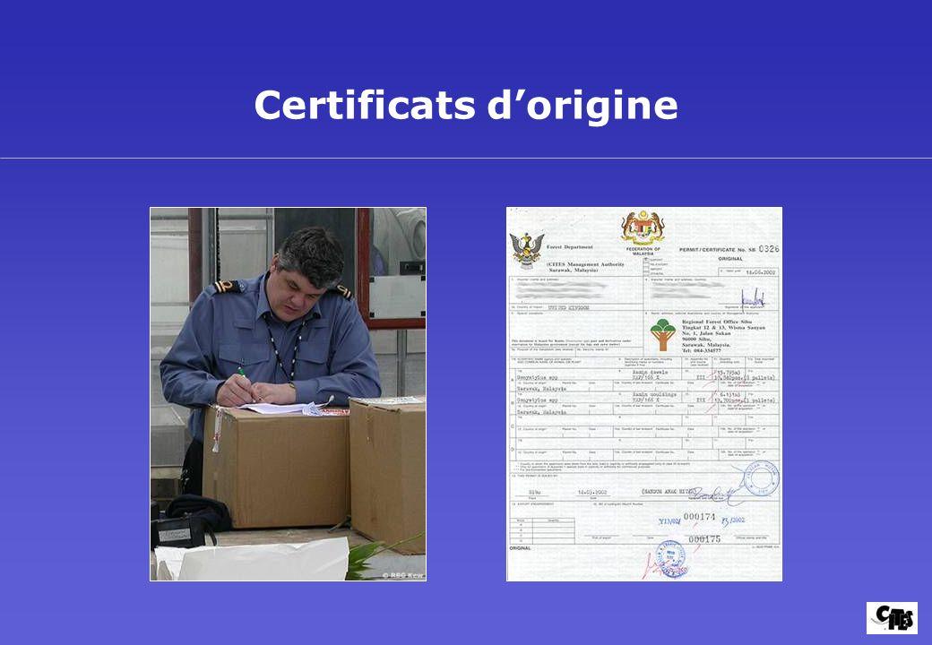 Certificats dorigine