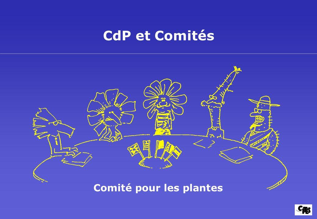 CdP et Comités Comité pour les plantes