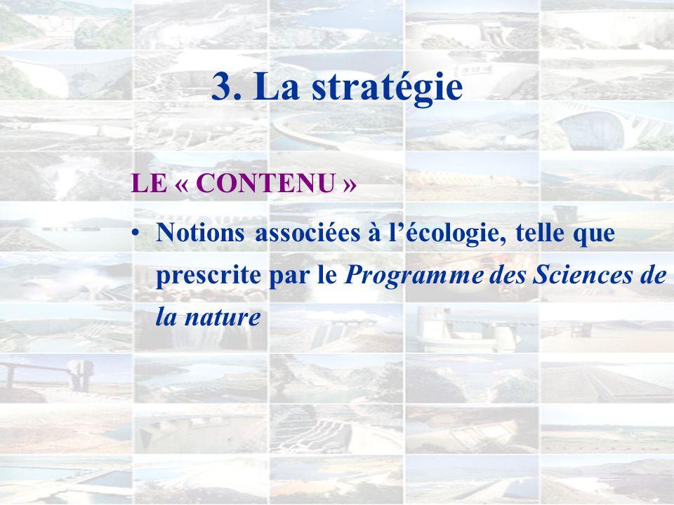 3. La stratégie GRANDES LIGNES 1) Construction dun îlot de rationalité autour de la construction de barrages... 2) Ouverture de boîtes noires - table