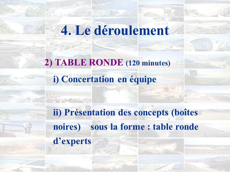 4. Le déroulement 1) CONTROVERSE ET ÎLOT (75 minutes) i) Introduction (exemple de la ratatouille) ii) Cliché ou séance de remue-méninges iii) Panorama