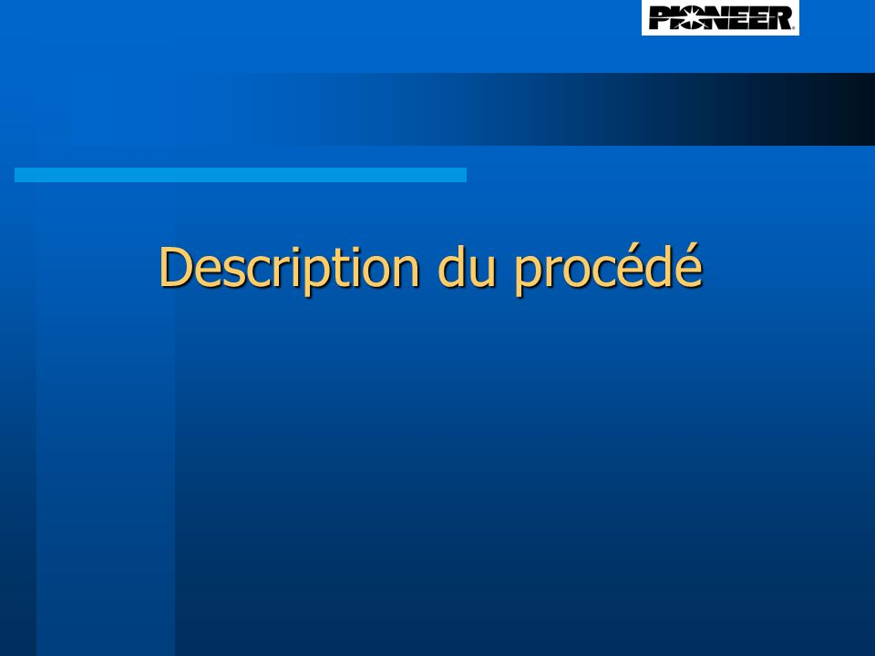 Description du procédé