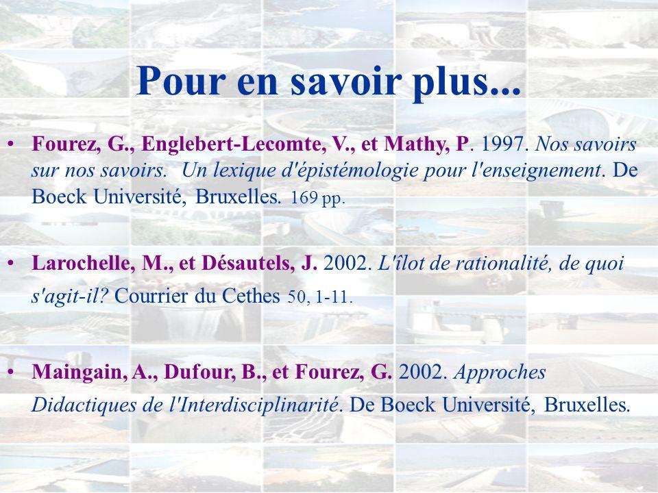 Remerciements Prof. Yvon Letarte Le Collège de Maisonneuve Prof. Jacques Désautels Chantal Pouliot Jean-François Maltais Les collègues du cours de did