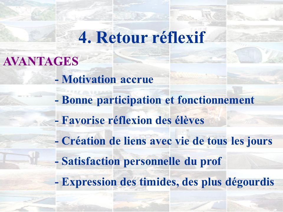 2. Le déroulement COURS 4) Table ronde et débat (3ème et 4ème semaines) 5) Retour et rétroaction (4ème semaine)