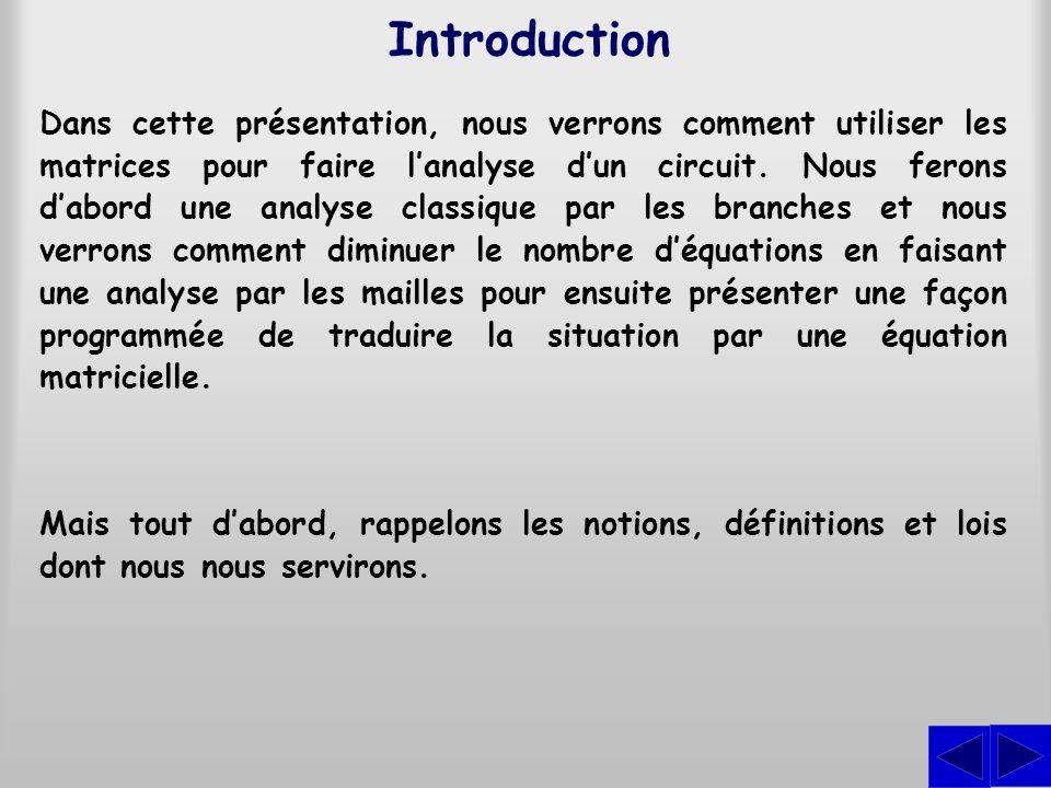 Exercice Faire lanalyse par les branches du circuit illustré en considérant les sens indiqués pour les courants.