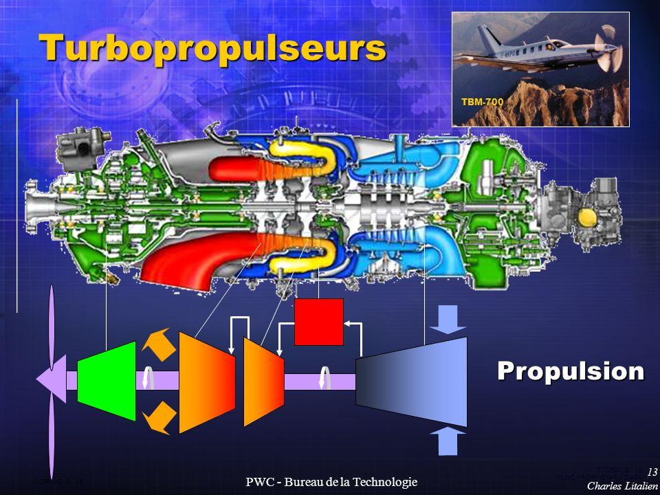 CORP VG G 13 5722520 G 13 P&WC PROPRIETARY DATA 13 Charles Litalien PWC - Bureau de la Technologie Turbopropulseurs TBM-700 Propulsion