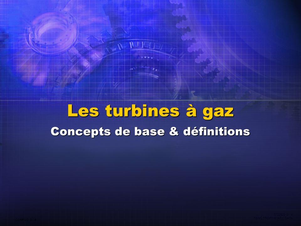 CORP VG G 4 5722520 G 4 P&WC PROPRIETARY DATA Les turbines à gaz Concepts de base & définitions