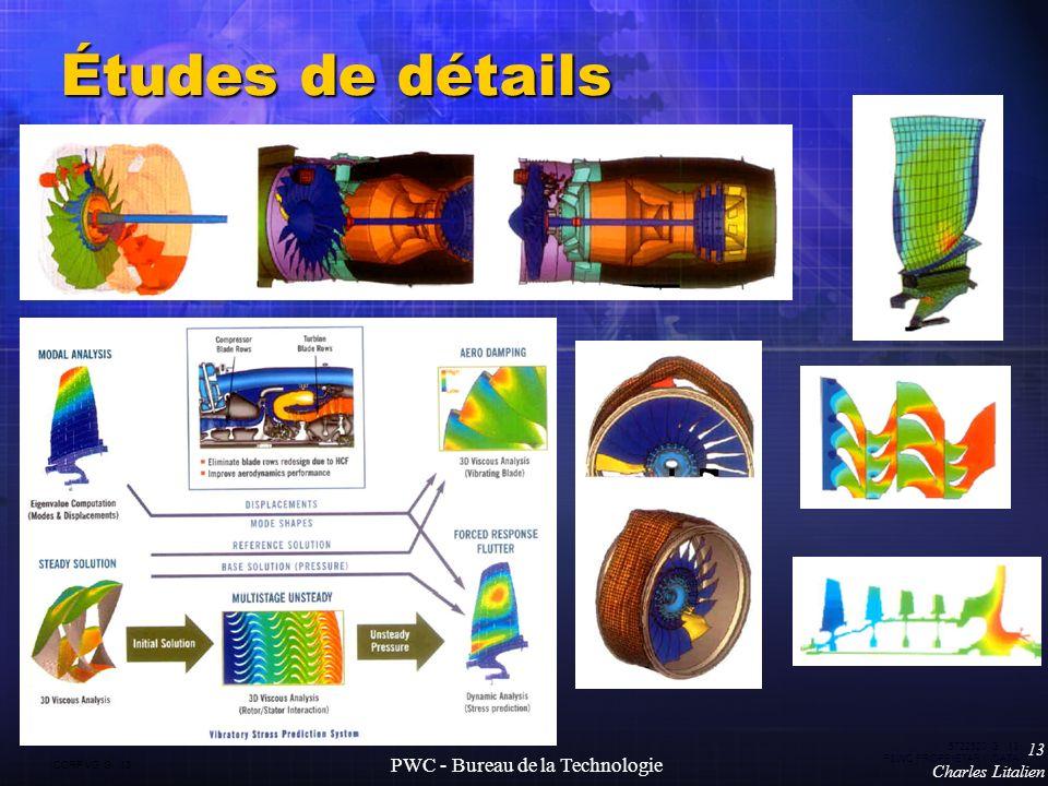 CORP VG G 13 5722520 G 13 P&WC PROPRIETARY DATA 13 Charles Litalien PWC - Bureau de la Technologie Études de détails
