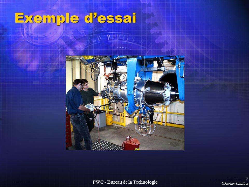 CORP VG G 7 5722520 G 7 P&WC PROPRIETARY DATA 7 Charles Litalien PWC - Bureau de la Technologie Exemple dessai