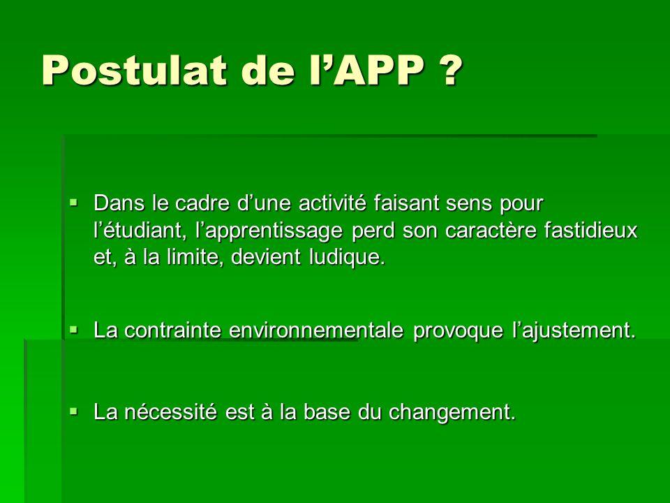 Postulat de lAPP .