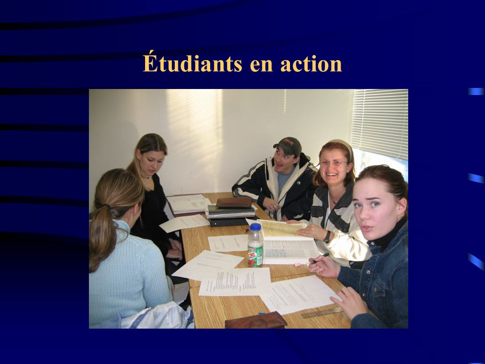 Étudiants en action
