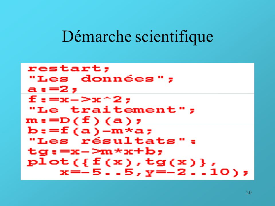 20 Démarche scientifique