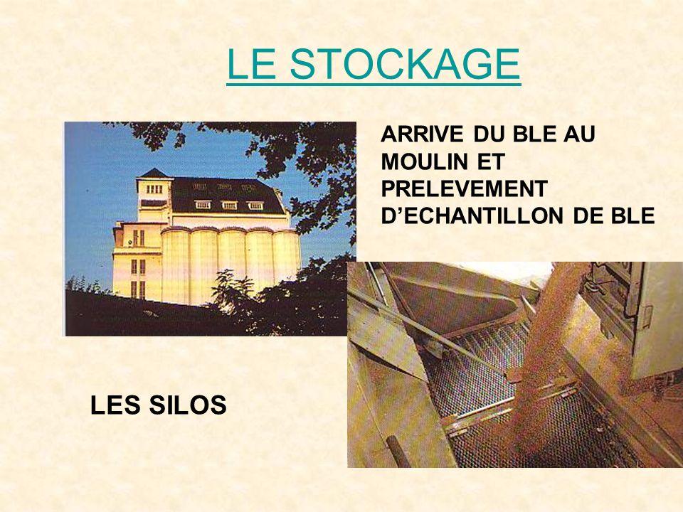 LE STOCKAGE LES SILOS ARRIVE DU BLE AU MOULIN ET PRELEVEMENT DECHANTILLON DE BLE