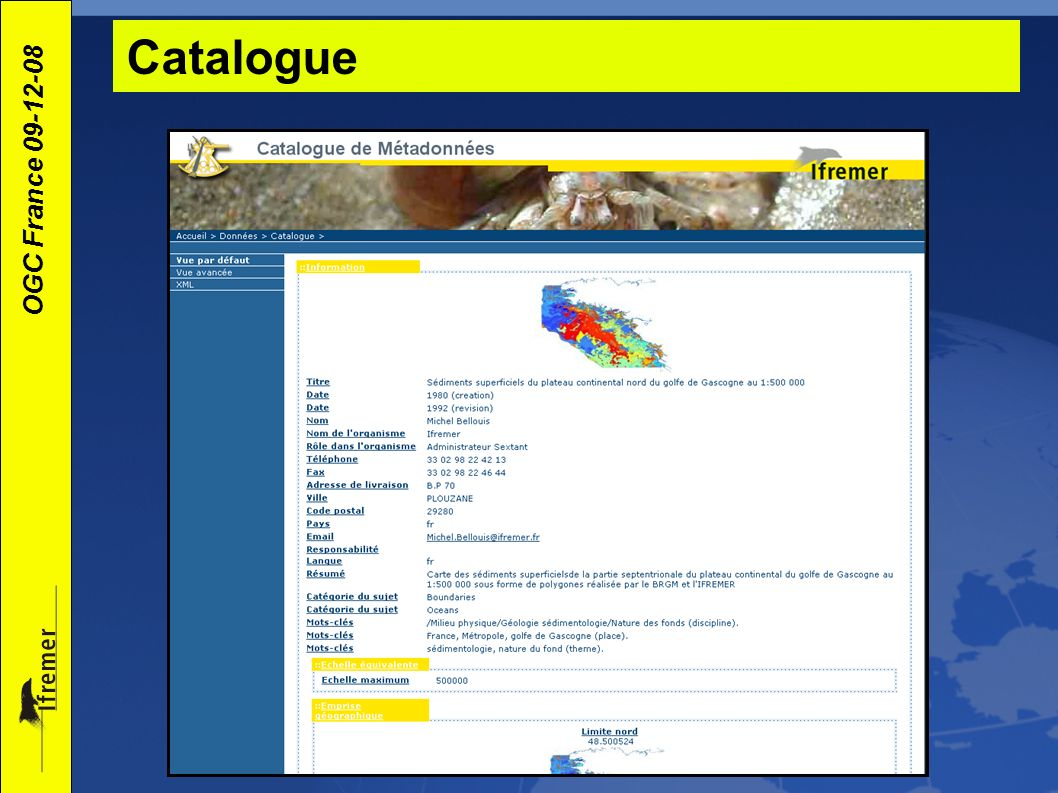 OGC France 09-12-08 Catalogue