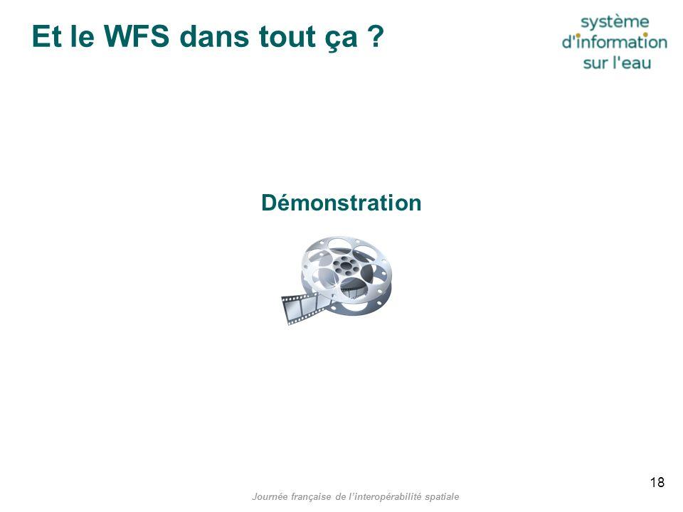 Journée française de linteropérabilité spatiale Et le WFS dans tout ça ? Démonstration 18