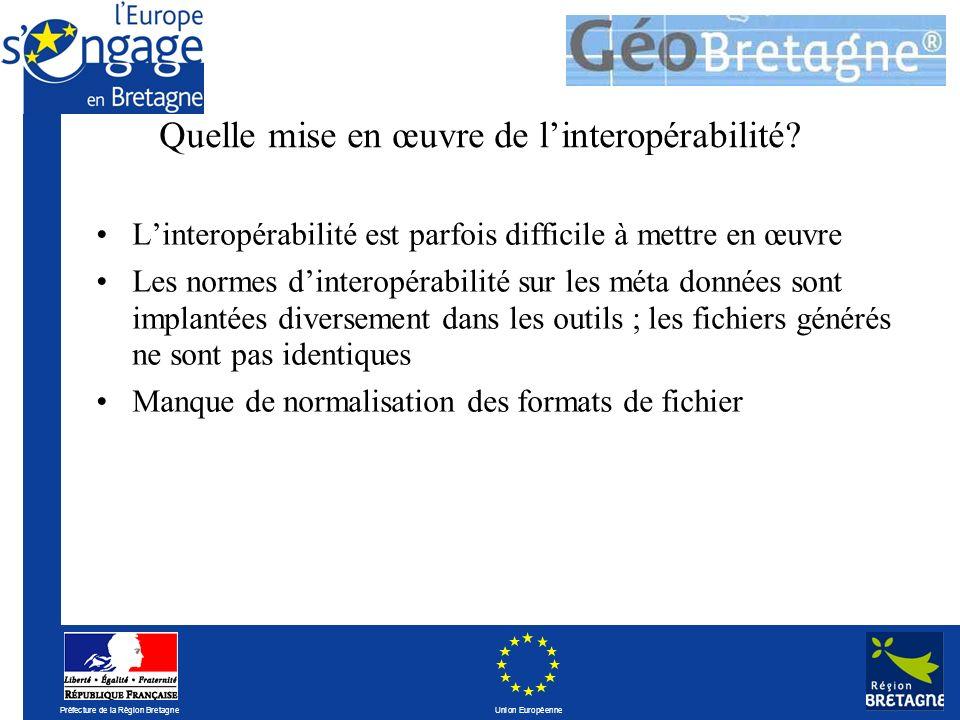 Préfecture de la Région Bretagne Union Européenne Quelle mise en œuvre de linteropérabilité.