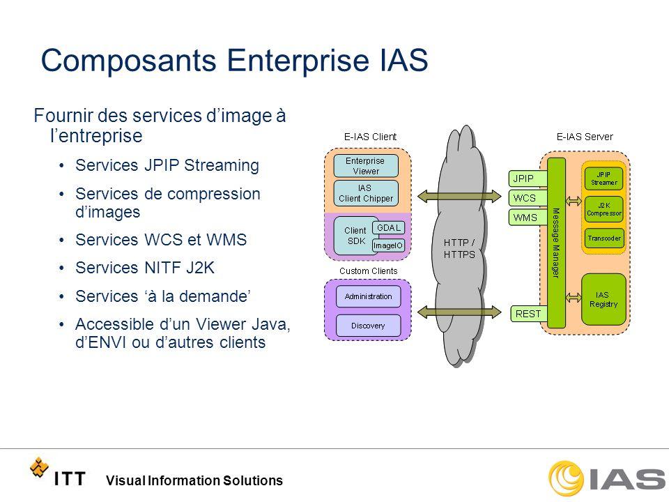 Visual Information Solutions Composants Enterprise IAS Fournir des services dimage à lentreprise Services JPIP Streaming Services de compression dimag
