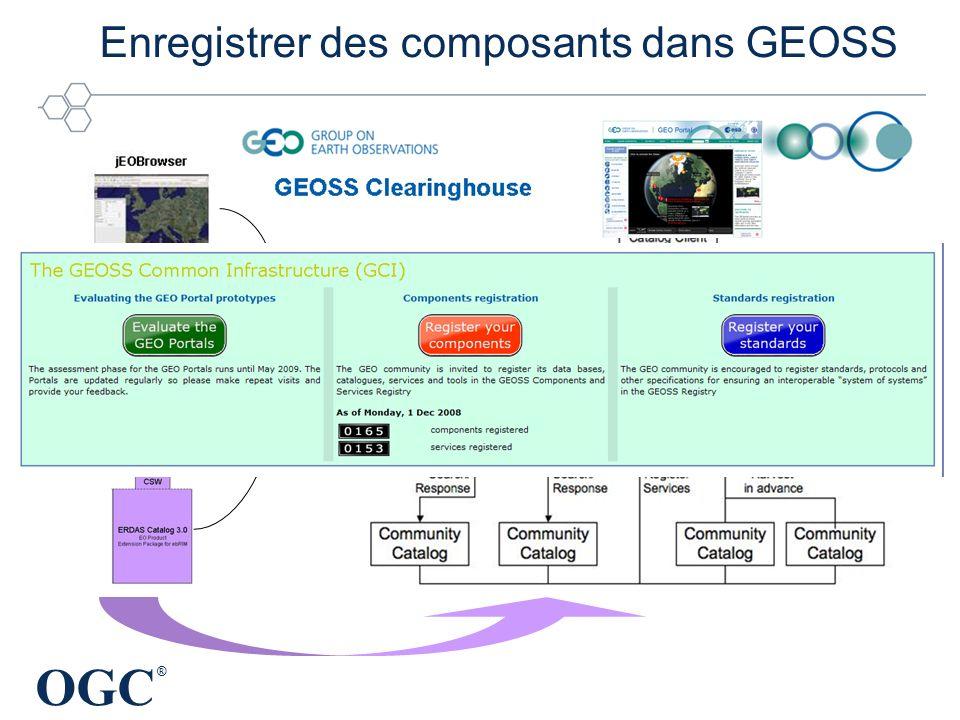 OGC ® Enregistrer des composants dans GEOSS