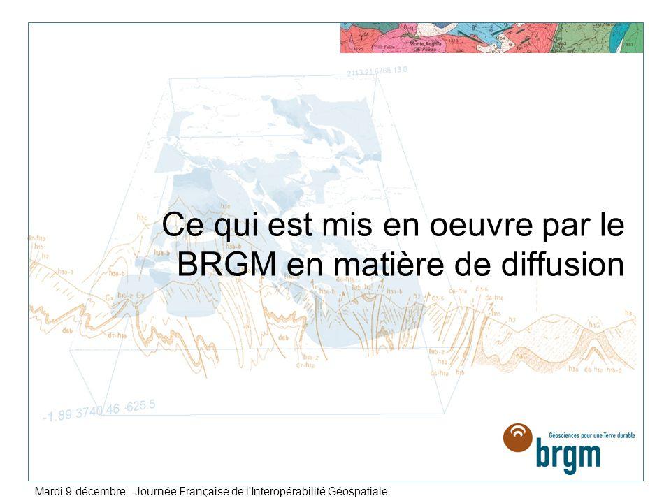 Ce qui est mis en oeuvre par le BRGM en matière de diffusion Mardi 9 décembre - Journée Française de l'Interopérabilité Géospatiale