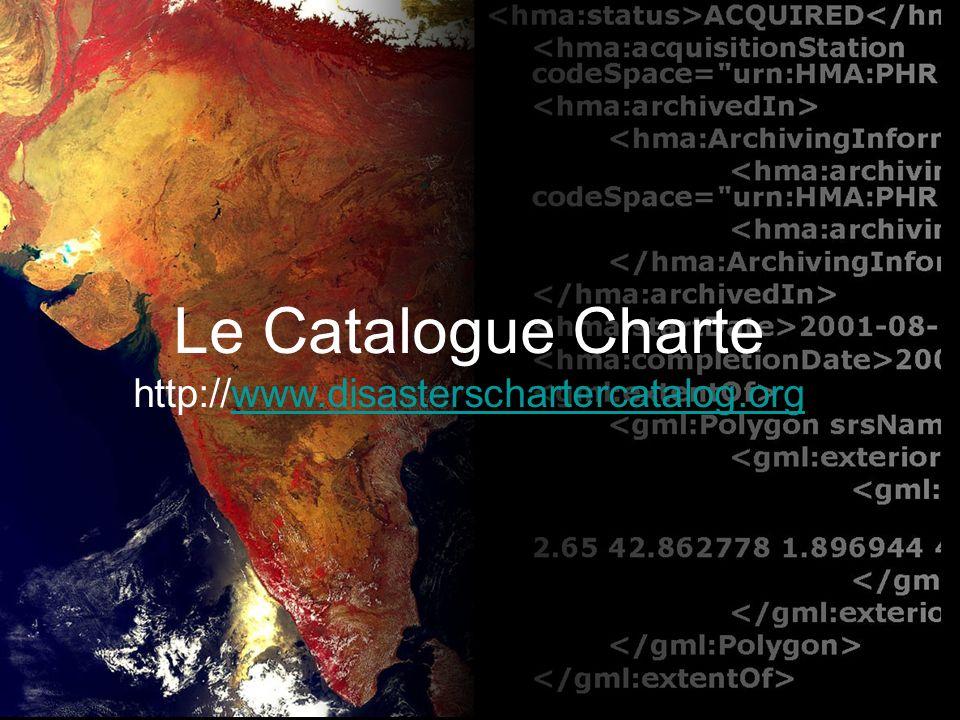 Lobjectif du catalogue est de valoriser les données acquises dans le cadre de la Charte.