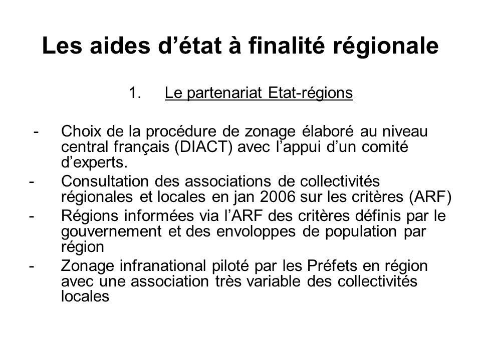 Les aides détat à finalité régionale 1.