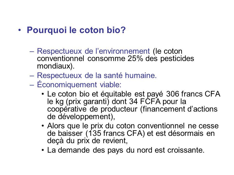 AXE 2 : organiser et structurer la demande en Bretagne Engagement dentreprises textiles en Bretagne à acheter lintégralité de la production de coton bio produite, dans le respect des principes du commerce équitable.