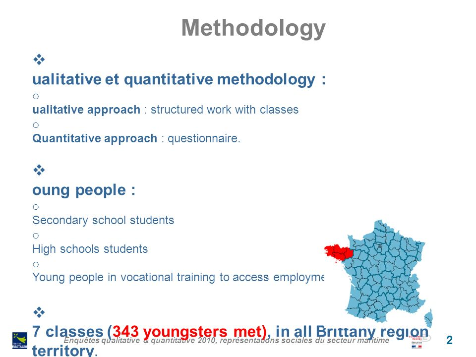 Main conclusions Jobs attractivity is linked with knowledge of the sea Stereotypes are developed very soon (13-14 years old students) We are not facing only stereotypes : hard working conditions, risks are reality.