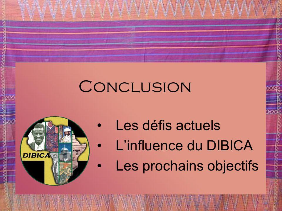 Conclusion Les défis actuels Linfluence du DIBICA Les prochains objectifs