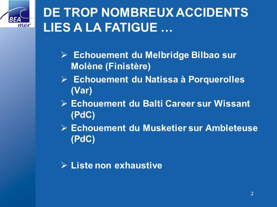 2 Echouement du Melbridge Bilbao sur Molène (Finistère) Echouement du Natissa à Porquerolles (Var) Echouement du Balti Career sur Wissant (PdC) Echoue