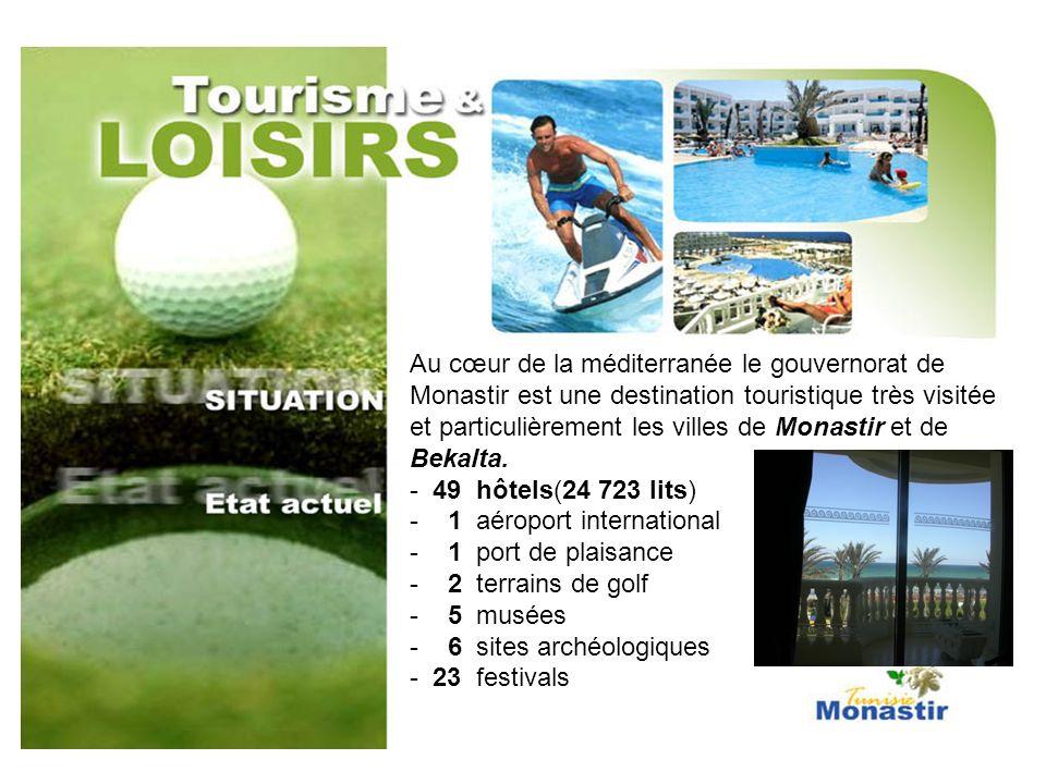 Au cœur de la méditerranée le gouvernorat de Monastir est une destination touristique très visitée et particulièrement les villes de Monastir et de Be