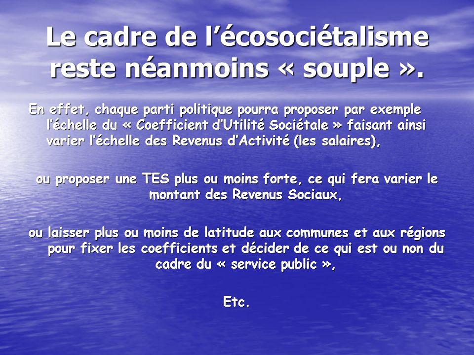 Le cadre de lécosociétalisme reste néanmoins « souple ».