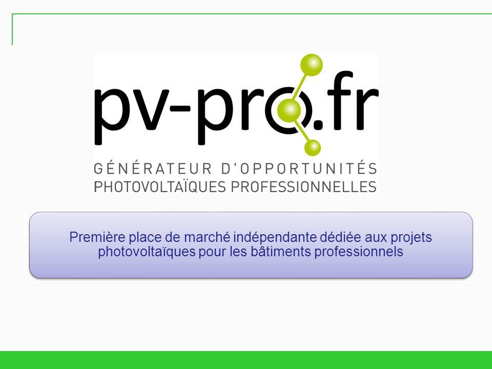 Première place de marché indépendante dédiée aux projets photovoltaïques pour les bâtiments professionnels