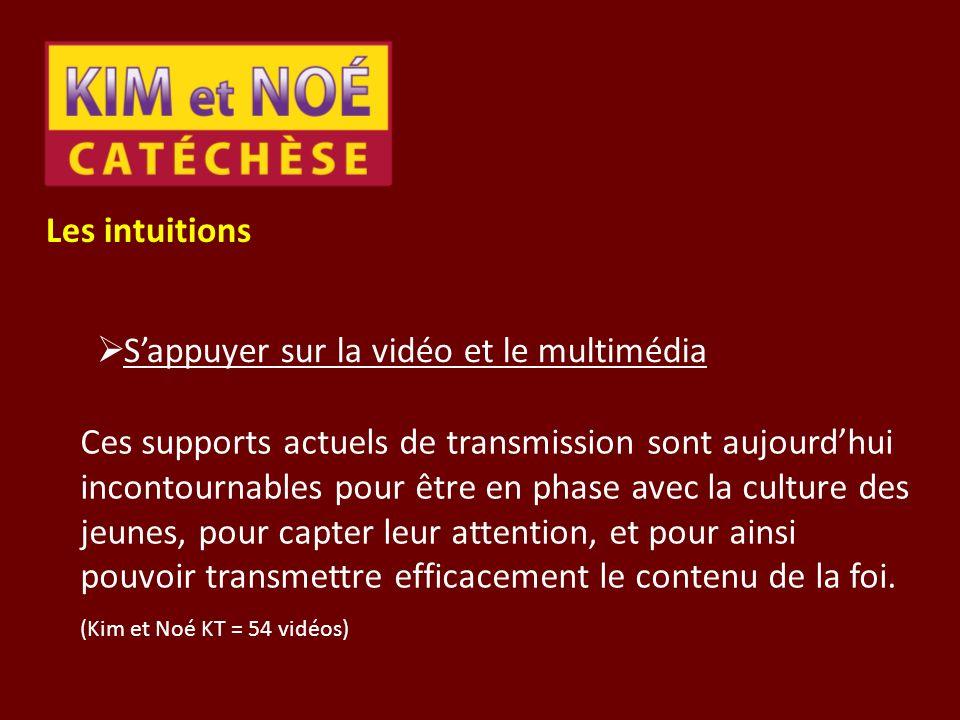Les intuitions Sappuyer sur la vidéo et le multimédia Ces supports actuels de transmission sont aujourdhui incontournables pour être en phase avec la