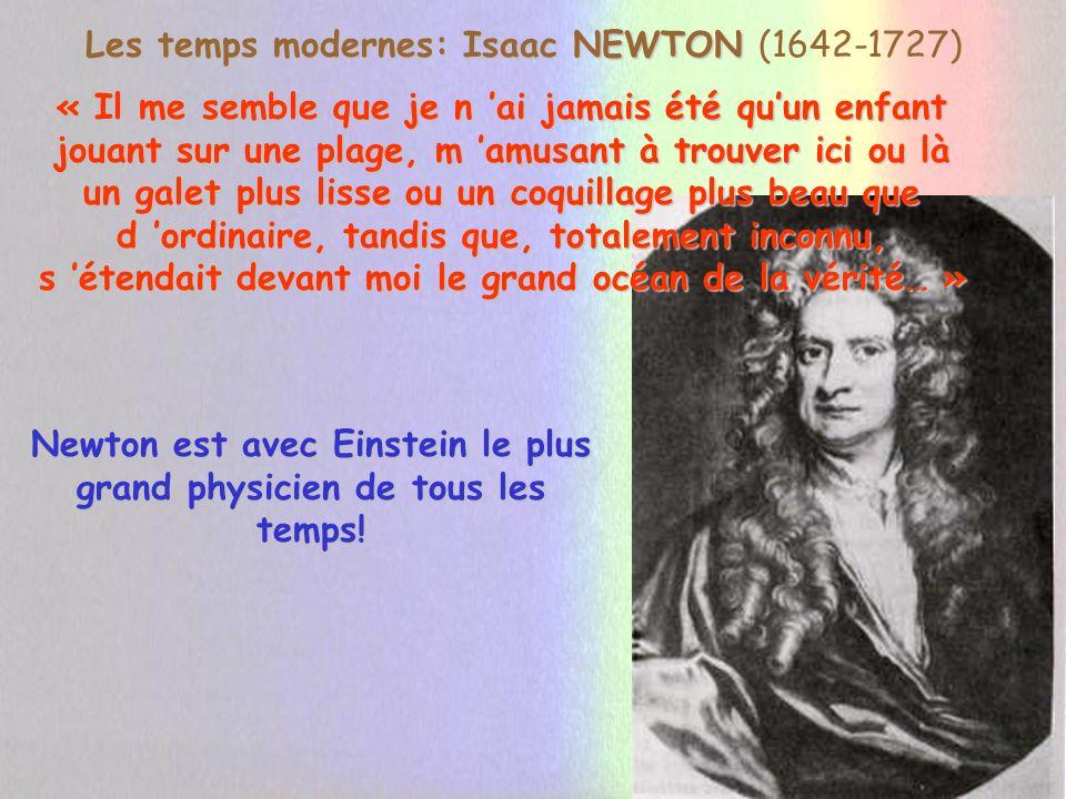 NEWTON: Théorie corpusculaire de la Lumière 15 ans plus tard il rallie la majorité des savants Anglais, à sa théorie, en sopposant encore à Descartes.