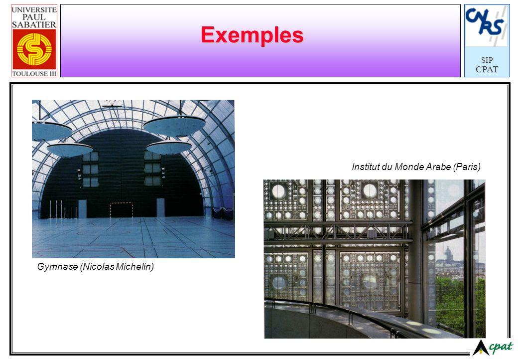 SIPCPAT Exemples Institut du Monde Arabe (Paris) Gymnase (Nicolas Michelin)