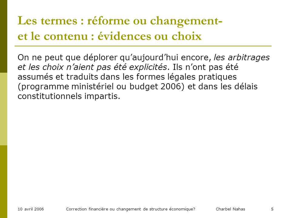 Correction financière ou changement de structure économique.