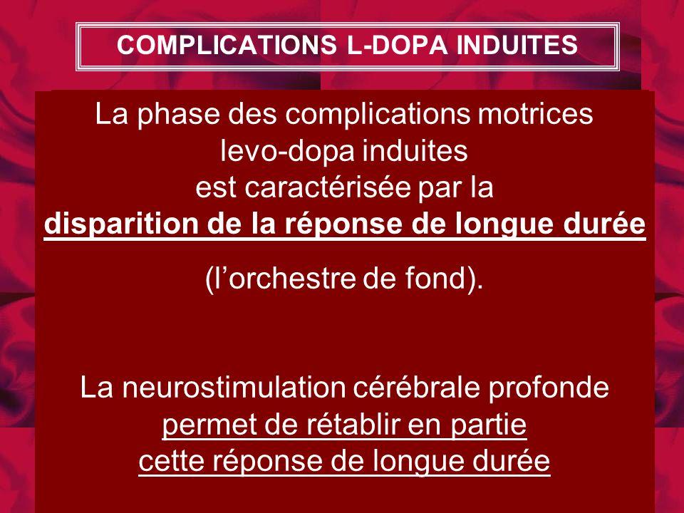 La disparition du fond musical continue (LDR = long duration response) caractérise la phase des fluctuations motrices La phase des CPK motrices levo-d