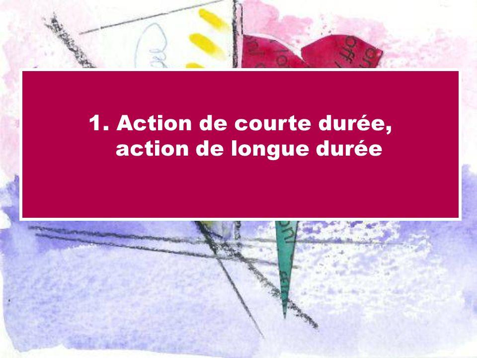 1. Action de courte durée, action de longue durée