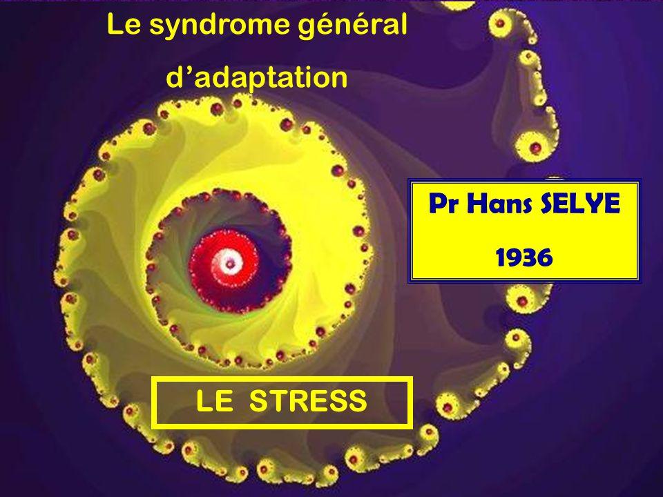 Le syndrome général dadaptation LE STRESS Pr Hans SELYE 1936
